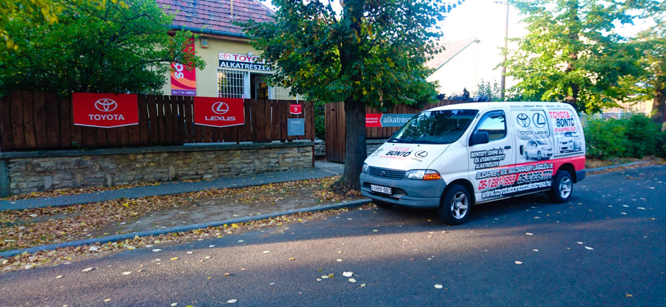 Toyota Bontó és Alkatrész Szaküzlet Budapest 1194 Madarassy László utca 9.